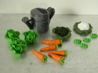 Watering Can & Veg  Cake Toppers with Name & Age